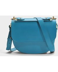Sophie Hulme - The Bow Bag In Blue Lagoon Cow Leather - Lyst