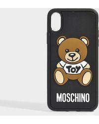 Moschino - Teddy I-phone X Case In Black Pvc - Lyst
