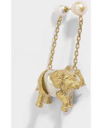 Carven - Elephant Mono Earring In Ivory Brass - Lyst