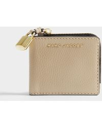 Marc Jacobs - The Grind Snap Wallet In Light Slate Cow Leather - Lyst