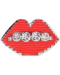 Shourouk | Emojibling Lips Brooch | Lyst