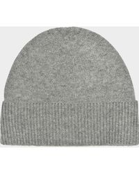 Eric Bompard - Classic Hat In Flanelle Cashmere - Lyst 63a6a5b0519
