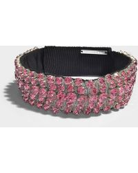 Christopher Kane - Crystal Choker In Pink Metal - Lyst