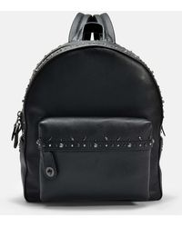 COACH - Campus Backpack With Rivets In Black Calfskin - Lyst