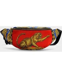 Versace - Pillow Talk Fanny Pack In Red Printed Nylon - Lyst