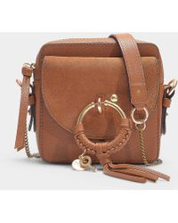 dec5d16cb See By Chloé - Joan Mini Crossbody Bag In Caramello Grained Cowskin And  Suede - Lyst