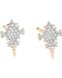Ginette NY | Diamond Tanger Studs | Lyst