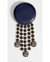Marni - Pendant Brooch In Blue Resin - Lyst