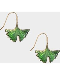 Aurelie Bidermann - Tangerine Earrings In Lacquered Green - Lyst
