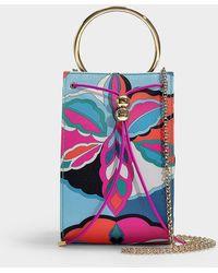 Emilio Pucci - Pouch Bag In Multicolor Satin - Lyst