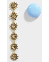 Jacquemus - Les Soleils Earrings In Blue Brass, Zamac And Resin - Lyst