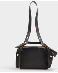Sophie Hulme - The Bolt Small Bag In Black Calfskin - Lyst