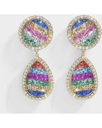 Shourouk - Shimer Rainbow Earrings In Multicolor Metal - Lyst