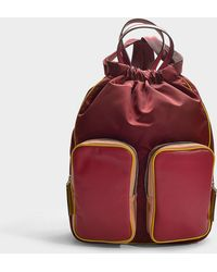 Marni - Carry All Backpack In Multicolor Calfskin - Lyst
