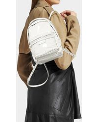 Stella McCartney - Falabella Mini Backpack In Ivory Synthetic Material - Lyst