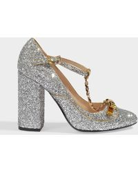N°21 - Mary Jane Pumps In Silver Glitter - Lyst