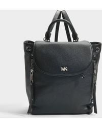 MICHAEL Michael Kors - Evie Medium Backpack In Black Small Pebble Leather - Lyst