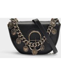 Roberto Cavalli - Coins Small Shoulder Bag In Black Calfskin - Lyst