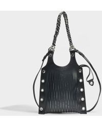 Sonia Rykiel - Le Baltard Small Tote Bag In Black Leather - Lyst