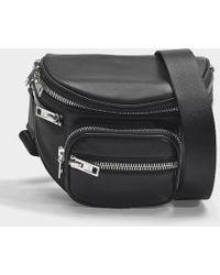 c1869216e3e0 Alexander Wang - Attica Soft Fanny Messenger Bag In Black Nappa Lambskin -  Lyst