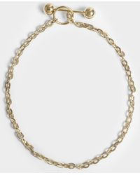 Saskia Diez - Barbelle Choker Necklace In 18k Gold-plated Silver - Lyst