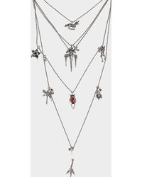 Valentino - Botanik Multi Row Necklace - Lyst