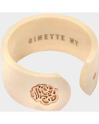 Ginette NY - Ivory Ceramic Monogram Open Ring - Lyst