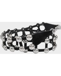Alexander Wang - Dome Cage Bag Strap In Black Calfskin - Lyst