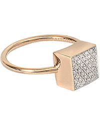 Ginette NY | Diamond Ever Square Ring | Lyst