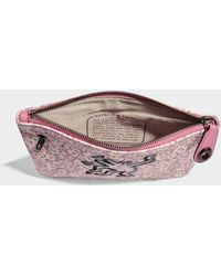 COACH - Turnlock Pouch 26 In Bright Pink Canvas - Lyst