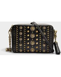 MICHAEL Michael Kors - Medium Camera Bag In Black Calfskin - Lyst