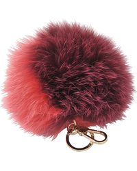 Furla - Bubble Keyring Pon Pon Bi-color - Lyst