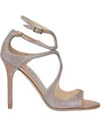 Jimmy Choo   Lang Glitter Sandals   Lyst