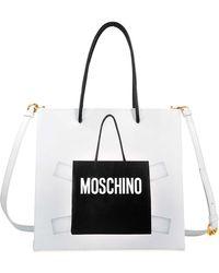 Moschino Trompe Lil shopper bag m2hP3mqiW