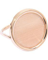 Ginette NY - Brush Gold Disc Ring - Lyst
