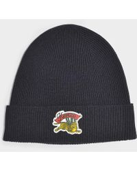 KENZO - Jumping Tiger Beanie In Jumping Tiger Black Wool - Lyst