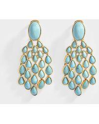 Aurelie Bidermann - Cherokee Clip Earrings With Lapiz Lazuli In Metal - Lyst