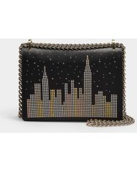 3cbbb87d3c21d4 Kate Spade - Glitzy Ritzy Skyline Marci Crossbody Bag In Multicoloured  Leather - Lyst