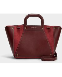 f50eb00d741 MICHAEL Michael Kors - Clara Large Convertible Tote In Brown Suede Leather  - Lyst