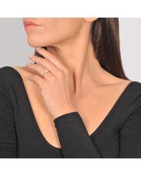 Ginette NY - Baby Diamond Ever Square 18-karat Rose Gold Ring - Lyst