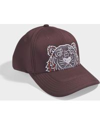 KENZO - Icon Cap In Burgundy Synthetic Material - Lyst