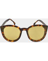 Spektre - Denora Sunglasses In Havana And Yellow No Mirror Ultra Thin Acetate - Lyst