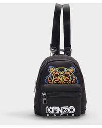 KENZO - Mini Sac à Dos Rucksack Icon en Caoutchouc et Polyester Noir - Lyst
