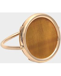 Ginette NY - Ever Tiger Eye Disc Ring - Lyst