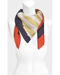 Sonia Rykiel - 175x175 Stripes Square Scarf In Terre Battue Twill Silk - Lyst