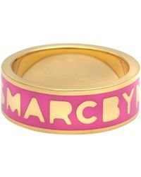 Marc By Marc Jacobs - Logo Disc-o Band Ring - Lyst