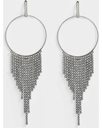 Helene Zubeldia - Crystals Cascade Circle Earrings In Ruthenium And Crystals - Lyst