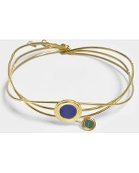Joanna Laura Constantine - Statement Choker Necklace In Gold-plated Brass With Lapis Lazuli And Malachite - Lyst