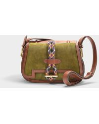 Carven - Twin Saddle Bag In Ecgoldce Calfskin - Lyst