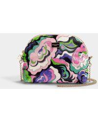 Emilio Pucci - Printed Mini Bag In Multicolor Calfskin - Lyst